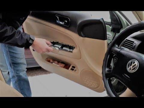 Виброизоляция дверной карты. Устранение скрипов и хрустов пластика VW Пассат Б5