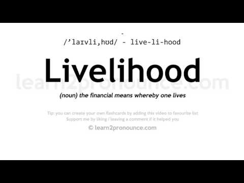 Livelihood pronunciation and definition
