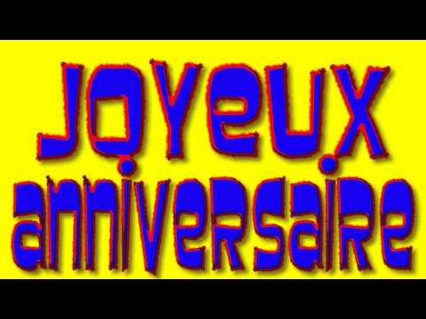 Joyeux Anniversaire (Happy Birthday in French) - alain le lait