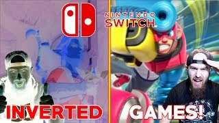Playing Nintendo Switch Games with INVERTED COLORS! - Best Switch Games In Inverted Colors!