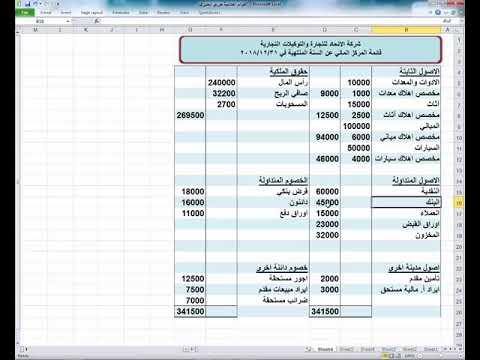 عايز تشتغل محاسب افهم معي قائمة المركز المالي لشركة الميزانية شرح عربي Excel Youtube
