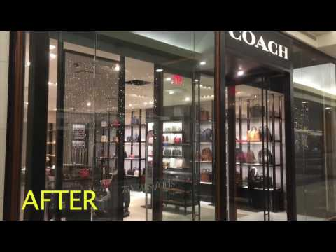 Spray Painting by 360 Contracting. Commercial Property. Coach Store at Shopping Mall.