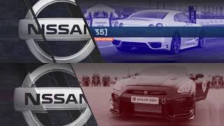 1400hp Nissan GT-R vs 1000hp Nissan GT-R. 1/2 Unlim 2018.