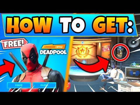 Fortnite DEADPOOL: HOW TO GET DEADPOOL FREE BONUS SKIN! - Season 2 Battle Pass In Battle Royale!