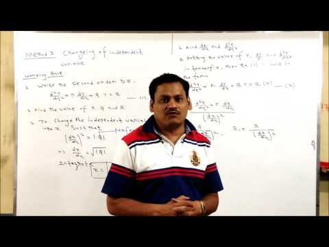 Lecture-3 Second Order Differential Equation-Change of independent variable method in Hindi