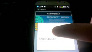 clave redes TURBONETT con android (WiFiGt V 2.0)
