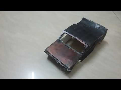 How to make model of amazing camaro with cardboard