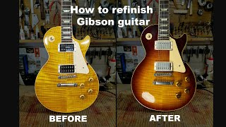 How to refinish Giḃson guitar. Gibson les Paul Classic 1996 nitro refinish.
