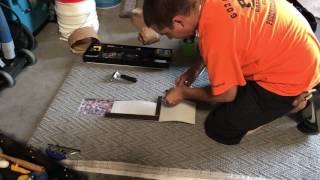 Loop pile carpet repair training