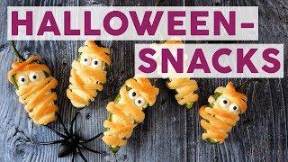 3 gruselige Snacks für deine Halloween-Party! 👻| REZEPTE