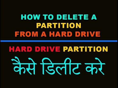 how to remove partitions from a drive