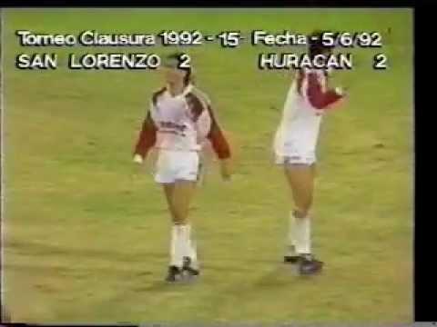 Huracán 2 San Lorenzo 2 Año 1992