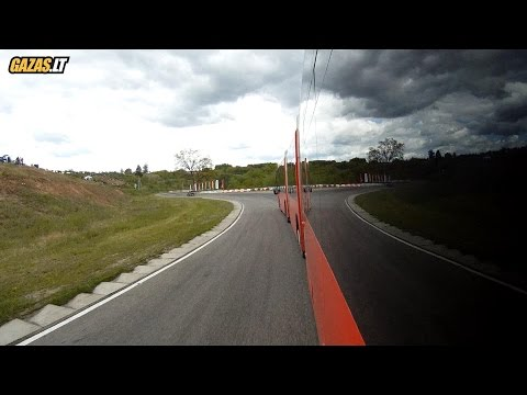 "25 meters long city bus in ""Nemuno ziedas"" race track"