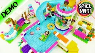 LEGO FRIENDS HEARTLAKE FREIBAD 41313 | Badespass mit riesen Rutsche und coolem Aquarium