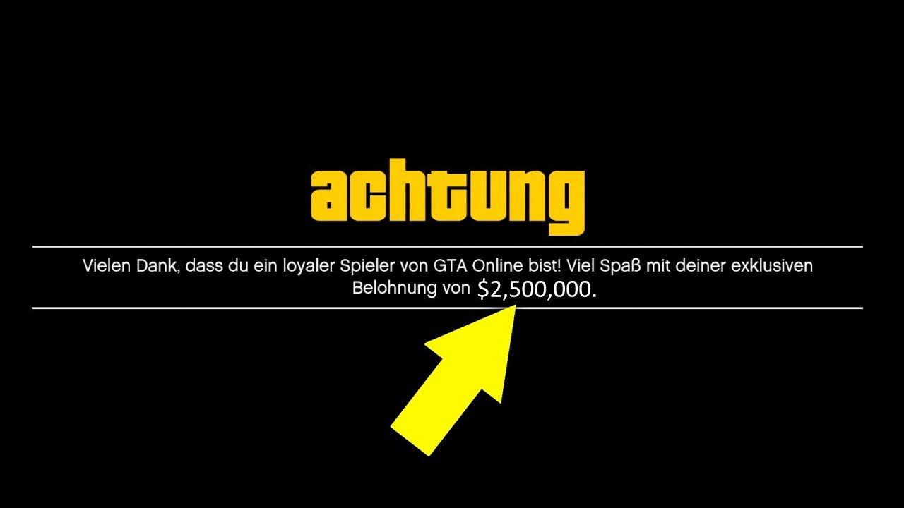 2.500.000$ geschenkt bekommen! Rockstar haut Millionen raus! | GTA ...