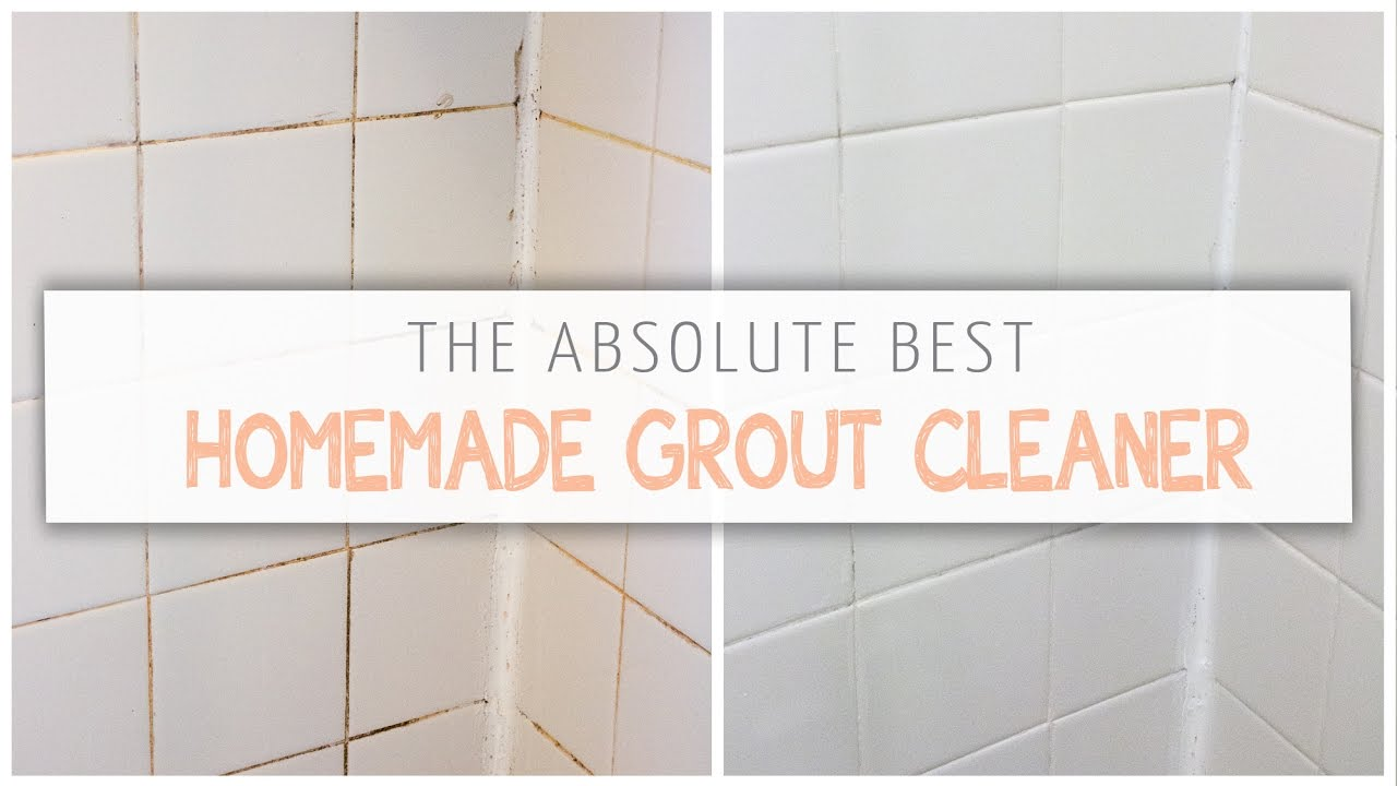 The Absolute Best Homemade Grout Cleaner! - YouTube