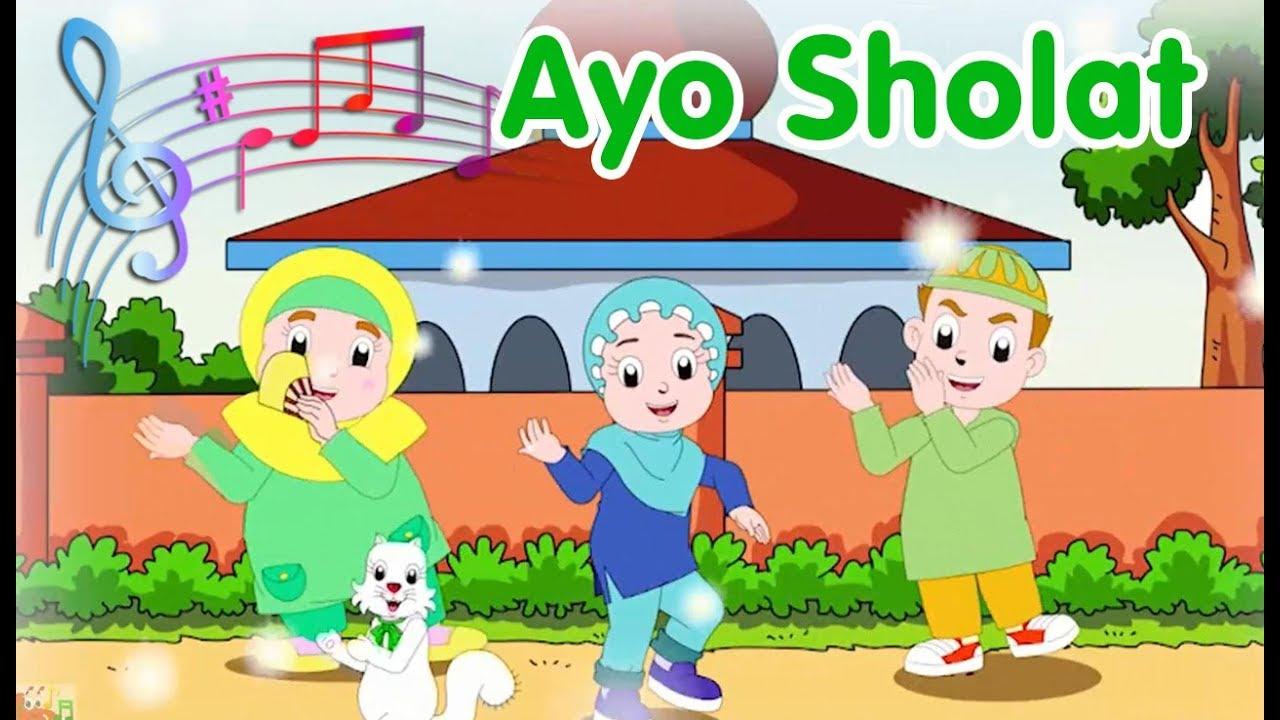 Gambar Animasi Anak Muslim Pergi Sholat Ayo Sholat Diva Bernyanyi Lagu Anak Channel Youtube