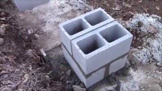 Building My Own Home: Episode 9 - Building the Foundation Columns for the House.