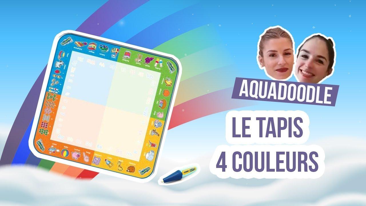 tapis enfant 4 couleurs aquadoodle les mary z