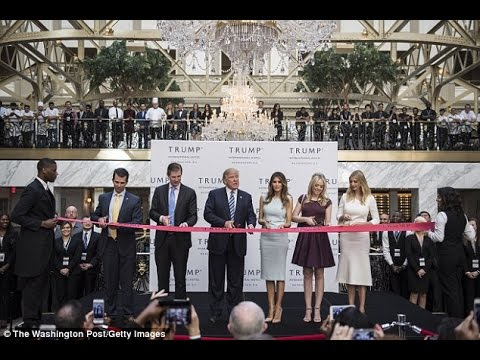 Banking group that backed Trump has booked his luxury DC hotel for conferences.