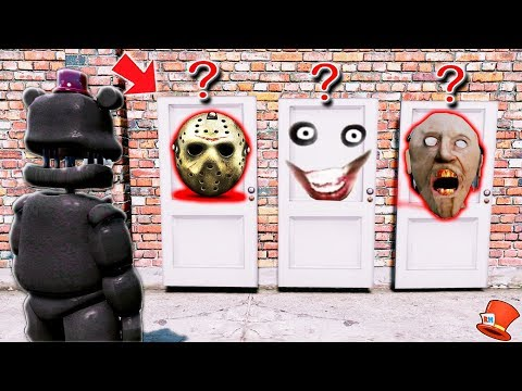 WHICH SCARY DOOR WILL LEFTY CHOOSE? (GTA 5 Mods FNAF RedHatter)