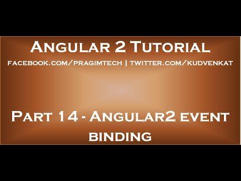 Angular2 Event Binding