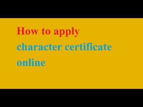 how to apply character certificate online
