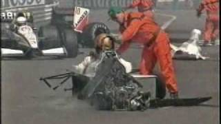 F1 1991 Alex Caffi´s massive crash
