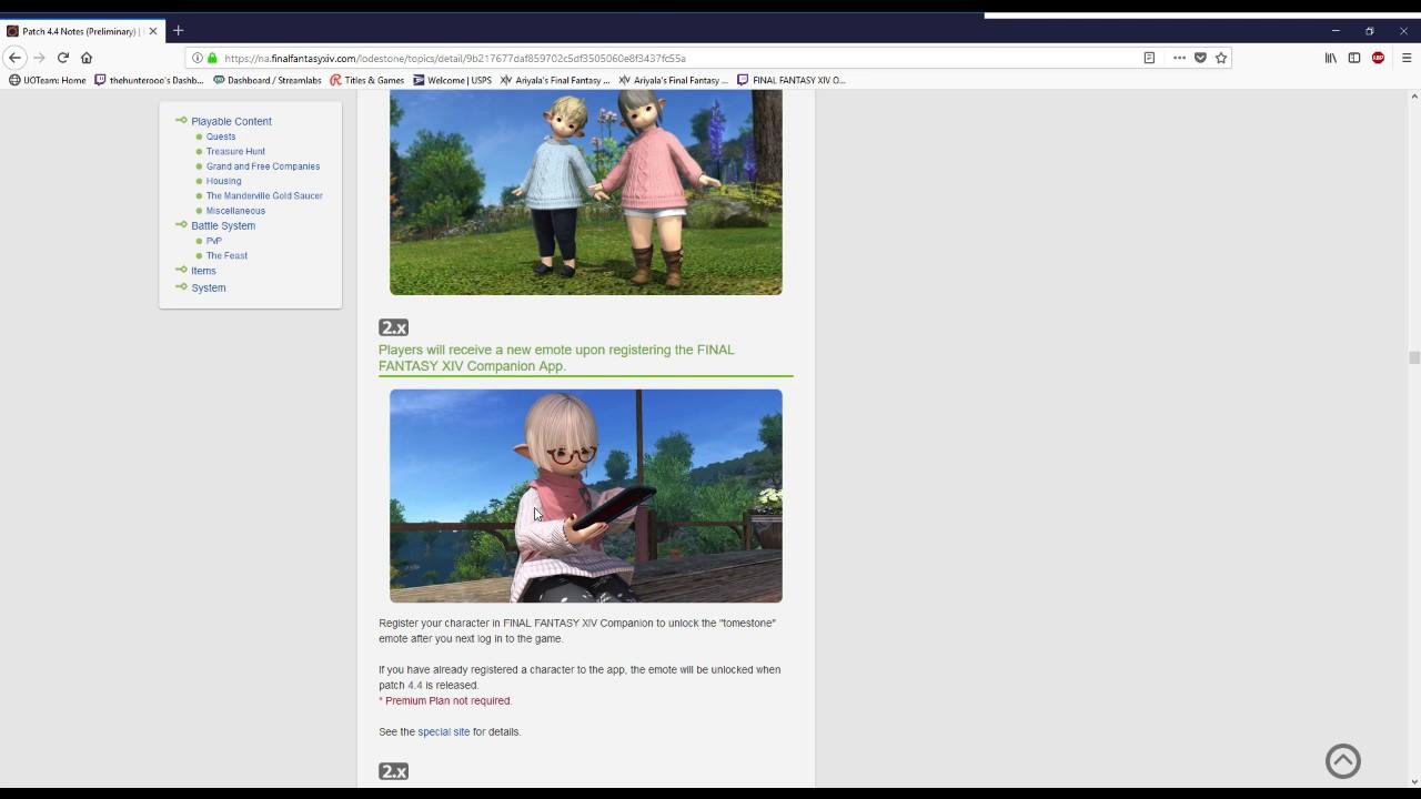 Final Fantasy XIV 4 4 Patch Notes