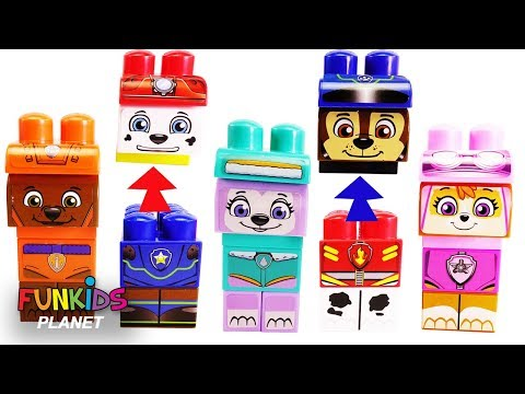 Thumbnail: Learning Colors for Kids Matching Paw Patrol Chase & Skye Block Wrong Head Legos