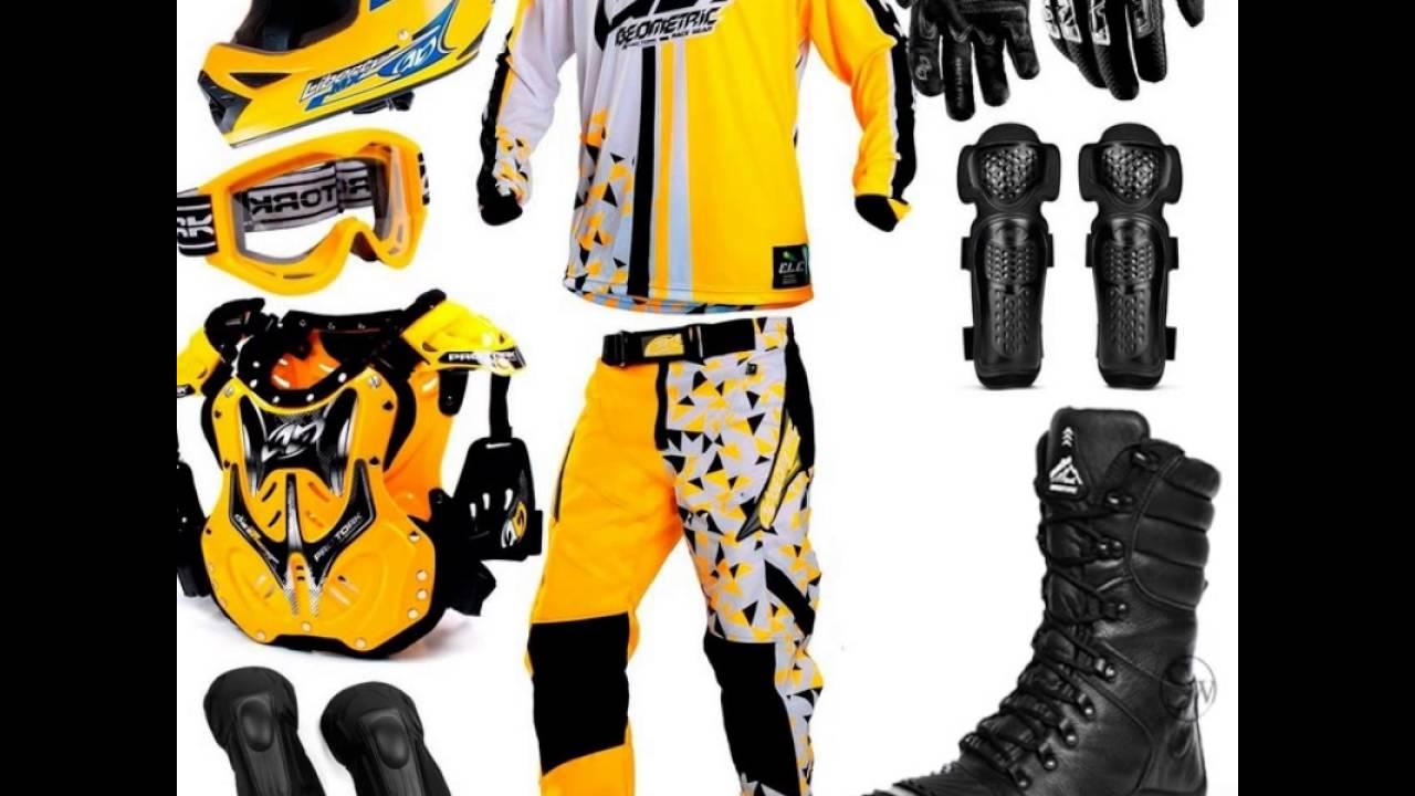 Conjunto de Roupas para Trilha Motocross Enduro Bota Capacete Colete Camisa  Calça 53f24744f4b4b