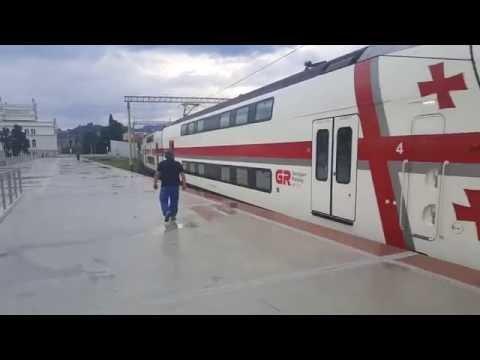 Отдых в Грузии Поезд Батуми Тбилиси Дорога Georgian Railways
