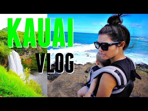 Kauai, Hawaii Travel VLOG 2017 Day 3 and 4  | Tropical Wailua Falls and Hawaii Vacation 4K