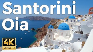 Oia Santorini Walking Tour 4k Ultra HD 60fps – With Captions