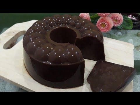 Cara Mudah Membuat Puding Brownies Legit tanpa Blender   Resep Puding Brownies   Puding Recipe.