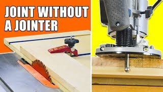 Table Saw Jointer Jig / Router Jointer Jig - How to Joint Wood Without a Jointer