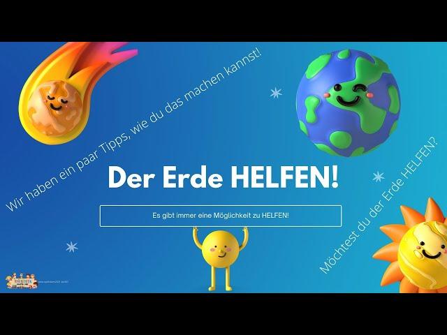 Der Erde HELFEN 🌎🪐 - Unser Sonnensystem ☀️ I Spielideen von Ben & Max - www.spielideen2021.de/GO