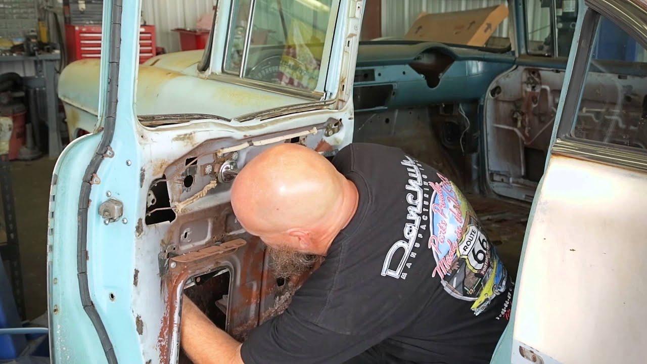 remove rear door window regulator 4-door sedan danchuk usa