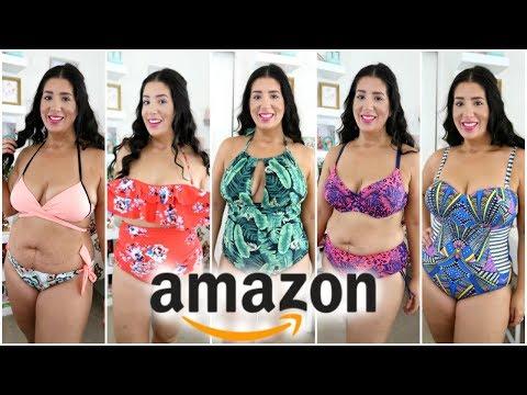 I Bought 7 Amazon SwimSuits  Size 1214  Try on Haul