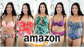I Bought 7 Amazon SwimSuits | Size 12-14 | Try on Haul Mp3