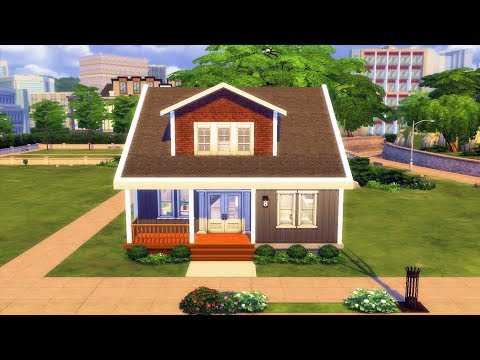 The Sims 4 - Small Family Home | Speed Build | Small Family House Building thumbnail