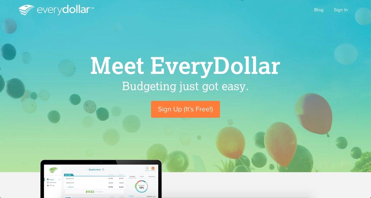 the everydollar website easy budgeting system youtube