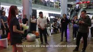 Sweet Surprise Show Choir Proposal Flash Mob @ Ion Orchard