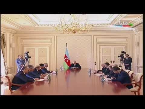 Yanginla bagli Ilham Eliyevin  iclasi