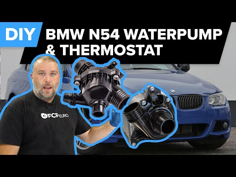 Bmw N54 Water Pump And Thermostat Diy Symptoms Tips And Self Bleeding Procedure Youtube