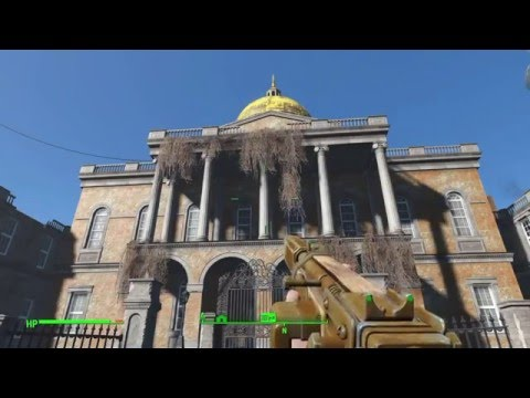 Fallout 4 Exploring The Massachusetts State House / Mirelurk Queen?!?