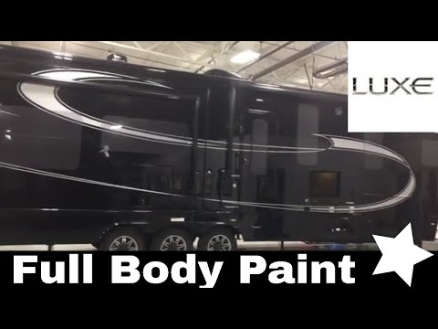 Black Full Body Paint - No Decal Stickers - Luxe luxury fifth wheels