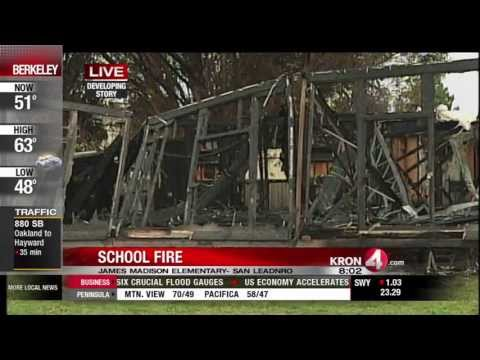 Will Tran Reports on Suspicious Fire at San Leandro School