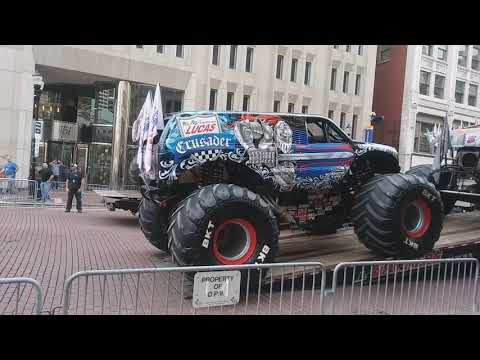 Monster trucks Downtown Indianapolis