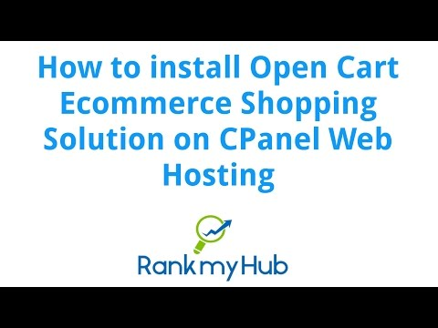 How to install Open Cart in CPanel Web Hosting